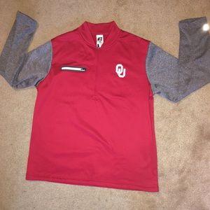 Russell Oklahoma Sooners Half-Zip Pullover Jacket